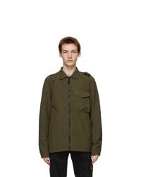 Stone Island Green Nylon Zip Jacket