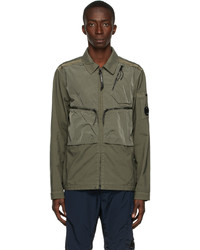 C.P. Company Green Taylon P Mixed Overshirt Jacket