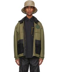 Fendi Khaki Cotton Backpack Jacket