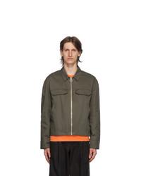 MAISON KITSUNÉ Khaki Zipped Blouson Jacket