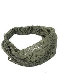 Chic Lady Girl Wide Headband Lace Head Wraps Turban Bandanas Army Green