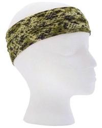 Pink Pewter Green Snake Microfiber Yoga Headband