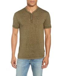 John Varvatos Star USA Burnout Henley T Shirt