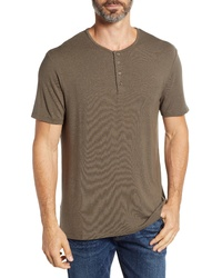 Stone Rose Short Sleeve Stretch Modal Henley
