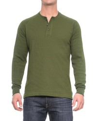 Cactus Thermal Henley Shirt Long Sleeve