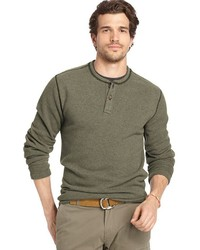 Arrow Big Tall Solid Henley Sweater Fleece