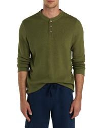 Bugatchi Comfort Long Sleeve Cotton Henley