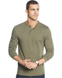 Club Room Herringbone Long Sleeve Henley T Shirt
