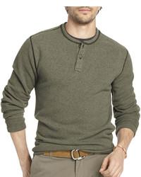 Arrow Long Sleeve Fleece Henley
