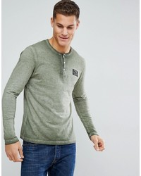 Tom Tailor Long Sleeve T Shirt With Grandad Neck 7807