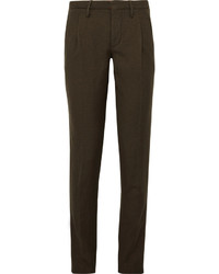 Incotex Slim Fit Herringbone Wool And Linen Blend Trousers