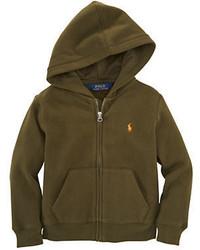 Ralph Lauren Childrenswear Boys 2 7 Zip Front Hoodie Sweatshirt