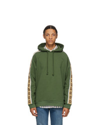 Gucci Green Cotton Jersey Hoodie