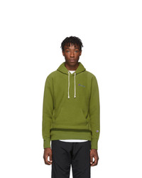 Champion Reverse Weave Green Small Script Hoodie