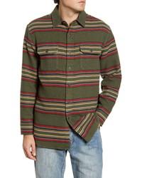 Olive Horizontal Striped Long Sleeve Shirt