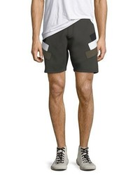 Neil Barrett Neoprene Modernist Stripe Shorts