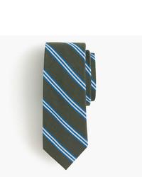 English wool silk tie in multistripe medium 822009