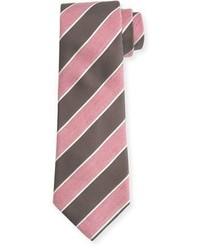 Isaia Pastel Wide Stripe Silk Tie