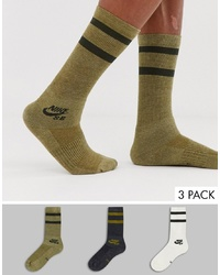 Nike SB 3 Pack Crew Socks In Multi Sx5760 955