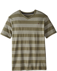 Olive Horizontal Striped T-shirt