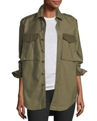Rag & Bone Button Front Surplus Shirt Jacket
