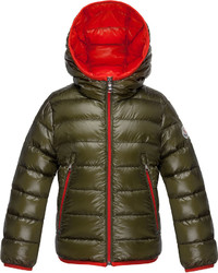 Moncler Mir Hooded Lightweight Down Puffer Jacket Olive Size 4 6