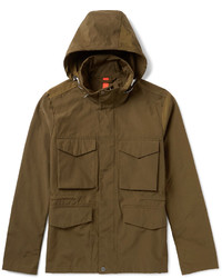 Paul Smith Ps By Cotton Blend Hooded Field Jacket