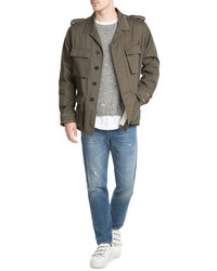 Valentino Rockstud Saharianna Cotton Jacket