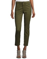 AG Jeans Ag Kinsley Sulfur Palm Green Twill Ankle Jeans