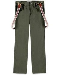 Forever 21 Boys Suspender Linen Blend Jeans