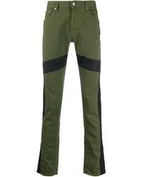 Just Cavalli Panelled Slim Fit Jeans