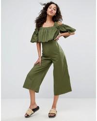 Jumpsuit in cotton with tie shoulder detail medium 3745067