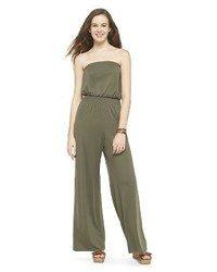 Mossimo Solid Strapless Jumpsuit Supply Cotm