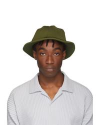 Homme Plissé Issey Miyake Khaki Pleats Bucket Hat