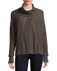 Design History Cable Knit Cowlneck Sweater