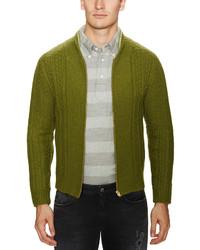 Stripe wool thumb cardigan medium 130606