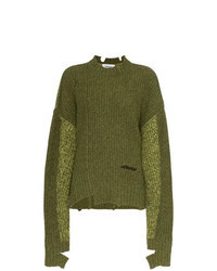 Olive Knit Oversized Sweater