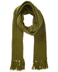 Olive Knit Scarf