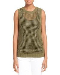 The rope stitch cotton blend tank medium 543655