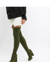 ASOS DESIGN Koko Knitted Thigh High Boots