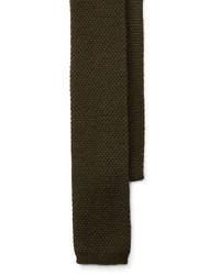 Olive Knit Tie