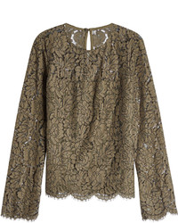 Diane von Furstenberg Lace Top With Cotton