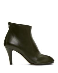Maison Margiela Green Stiletto Tabi Boots