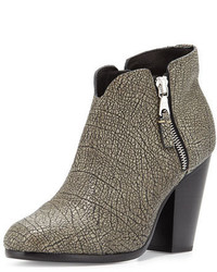 Rag & Bone Margot Leather Ankle Boot Iron