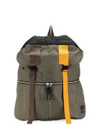 Olive Leather Backpack