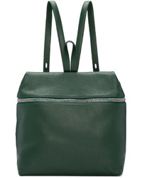 Kara Green Leather Large Backpack