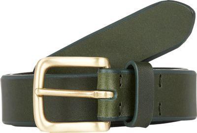 354c2c09d3c2f ... Barneys New York Contrast Edge Leather Belt Green ...