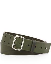 Ben Sherman Sam Leather Belt Green