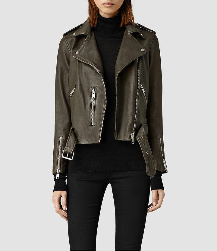a1bef2c8b $560, AllSaints Balfern Leather Biker Jacket