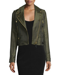 Burberry Brit Patterton Linen Blend Biker Jacket